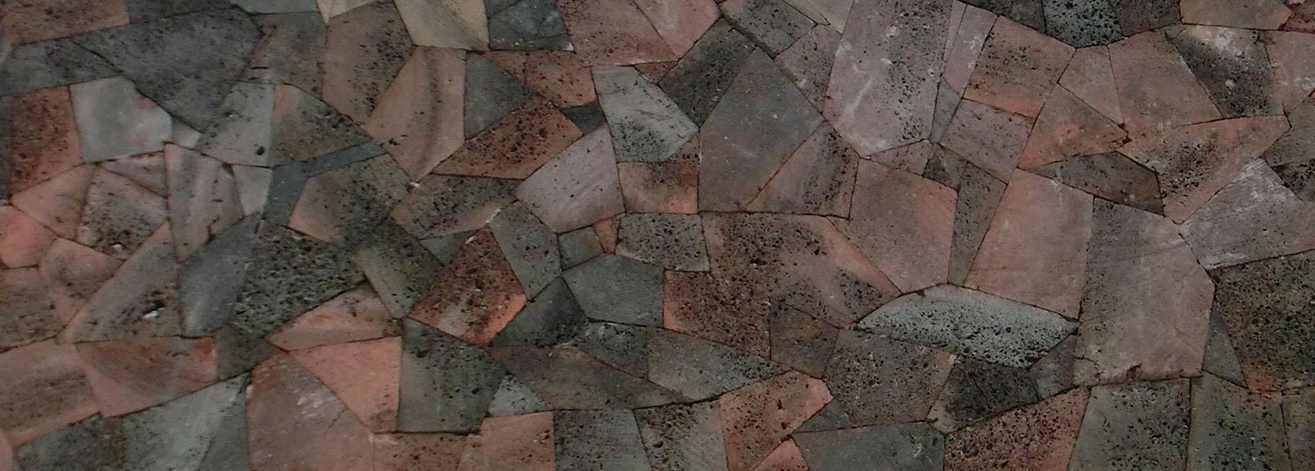 紅色火山石-浮石亂拼